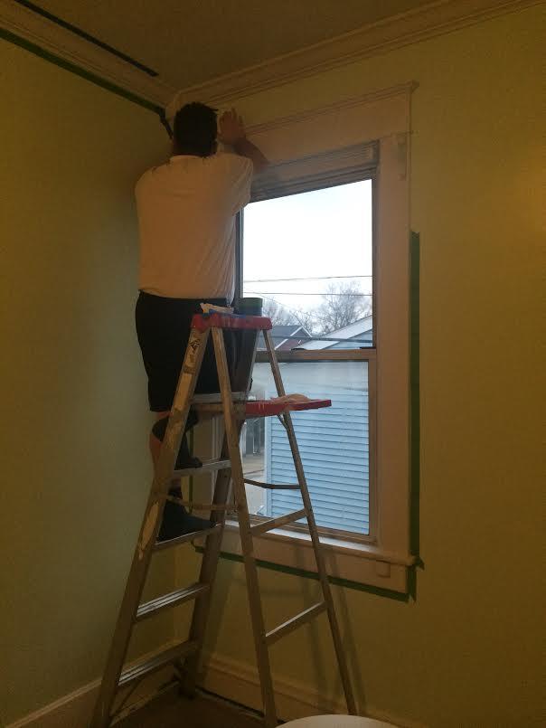 Brad on a ladder