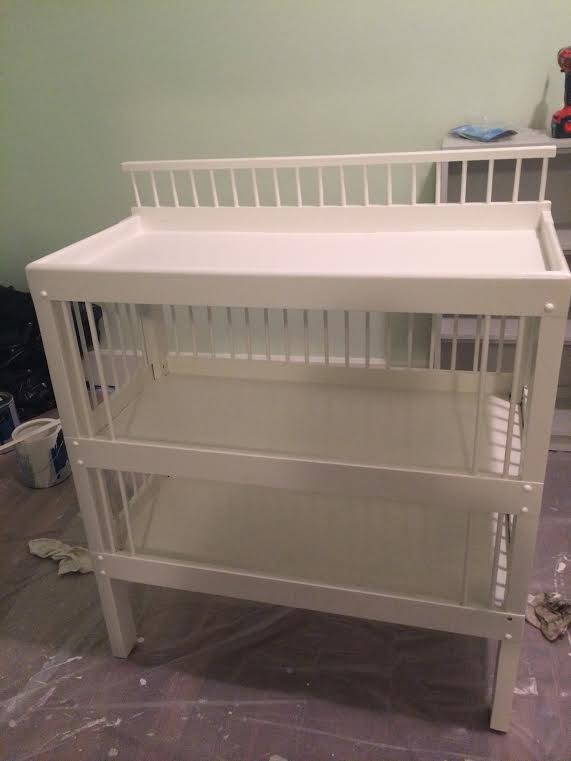 changing table finished